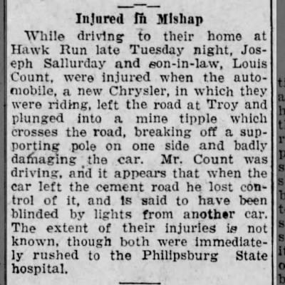Joseph Sallurday car accident